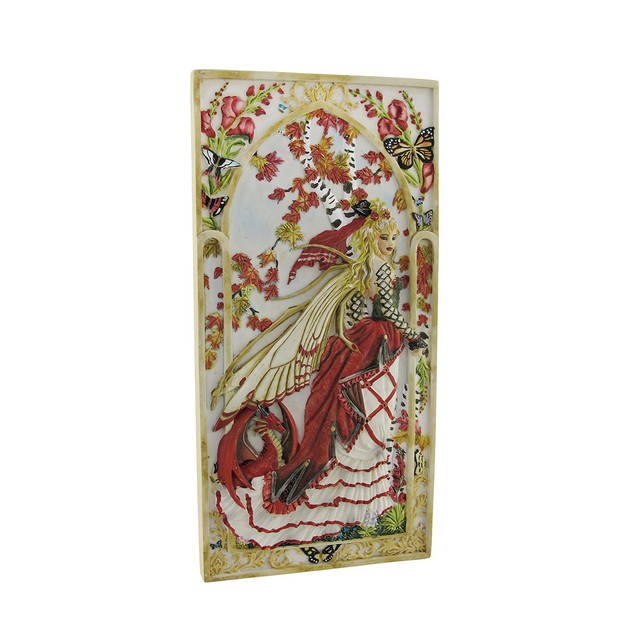 Nene Thomas `Snapdragon` Fairy And Dragon Wall Decorative Plaques