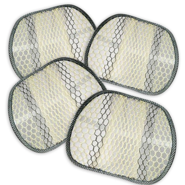 Zone Tech 4x Cool Mesh Car Chair Seat Beige Back Spine Lumbar Support