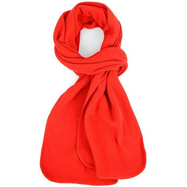 4-Pack Solid Color 100% Polyester Fleece Scarf