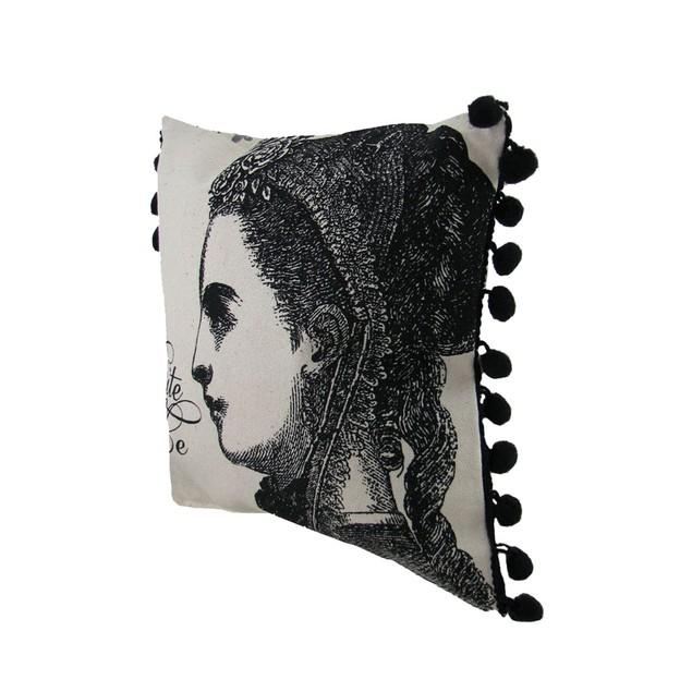 Pair Of Vintage Style 'Bite Me' Canvas Throw Throw Pillows