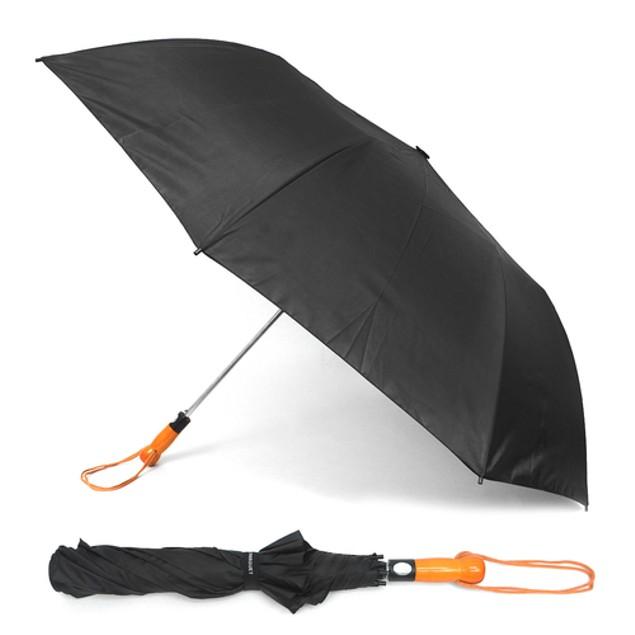 Telescopic Canopy Auto-Open Umbrella with Wooden Handle
