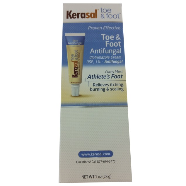 3 Pack Kerasal Toe & Foot Antifungal Clotrimazole Cream