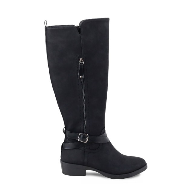 Olivia Miller 'Hicksville' Outside Zip Buckle Riding Boots