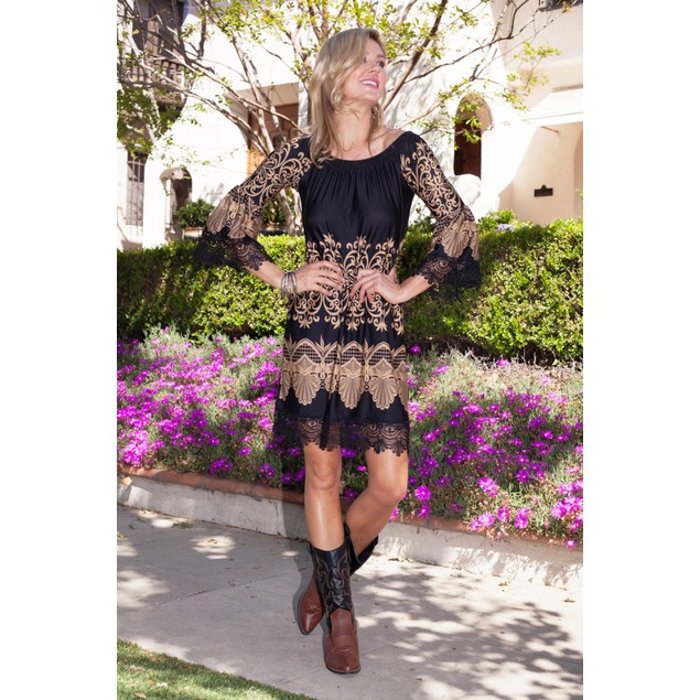 The 'Alta' Printed Bell Sleeve Dress
