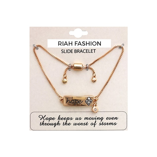 Fleur De Lis Charm Bracelet: Hope Fleur De Lis Charm Bracelet