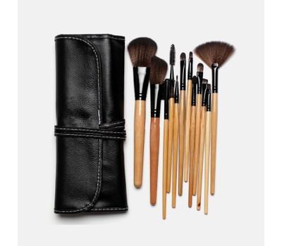 13piece makeup brush set with roll up case  tanga