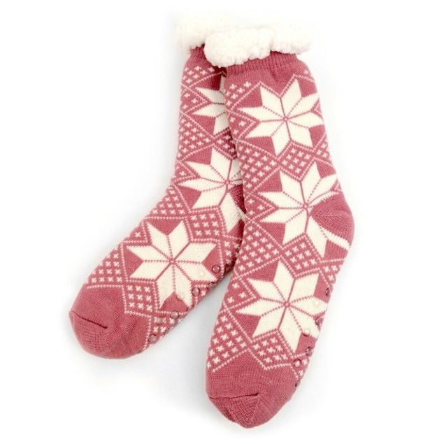 3 Pack Women's Plush Sherpa Winter Fleece Lining Christmas Slipper Socks