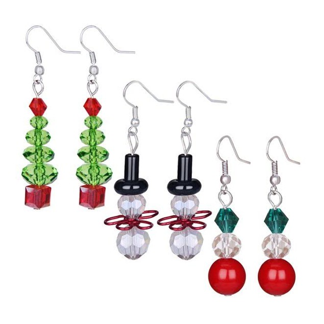 3-Pack Dangle Holiday Earrings