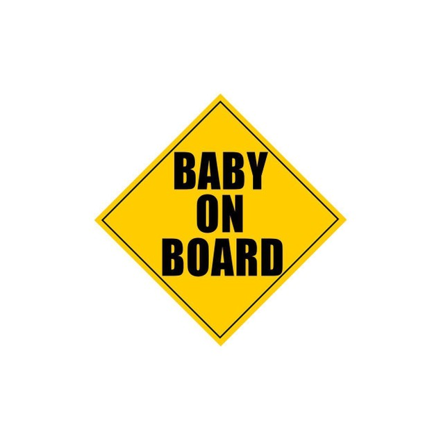 """Zone Tech Baby on Board Safety Safe Caution Bumper Car Vehicle Magnet 5x5"""""""