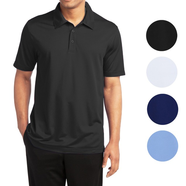 3-Pack Men's Dry Fit Moisture-Wicking Polo Shirt