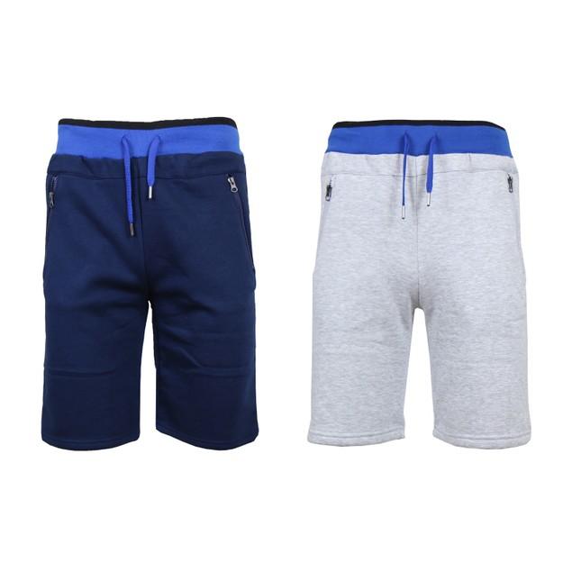 Men's Fleece Jogger Shorts with Zipper Pockets (S-2XL)