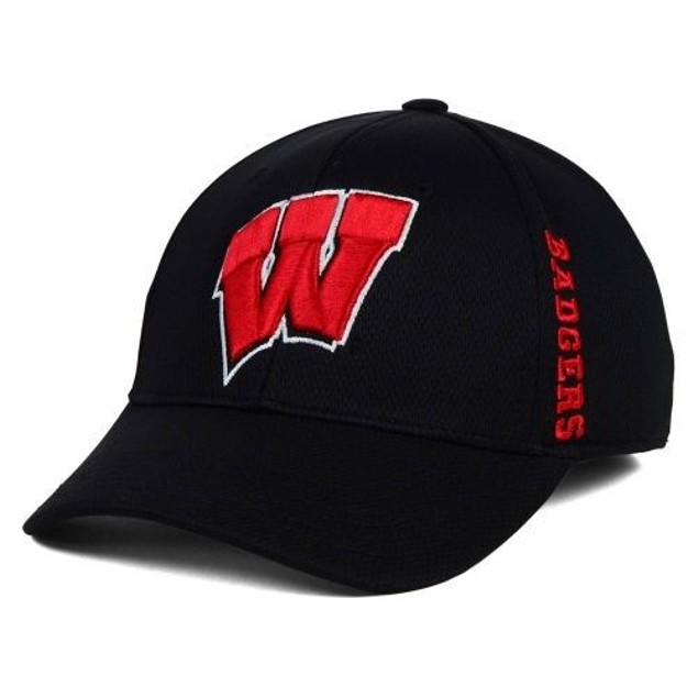 "Wisconsin Badgers NCAA TOW ""Booster"" Memory Fitted Hat"