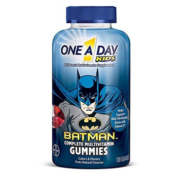 4-Pack One A Day Kids Batman Multivitamin Gummies, 180 Count