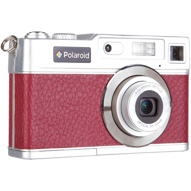 """Polaroid Retro 18MP with 2.4"""" Preview Screen - Red"""