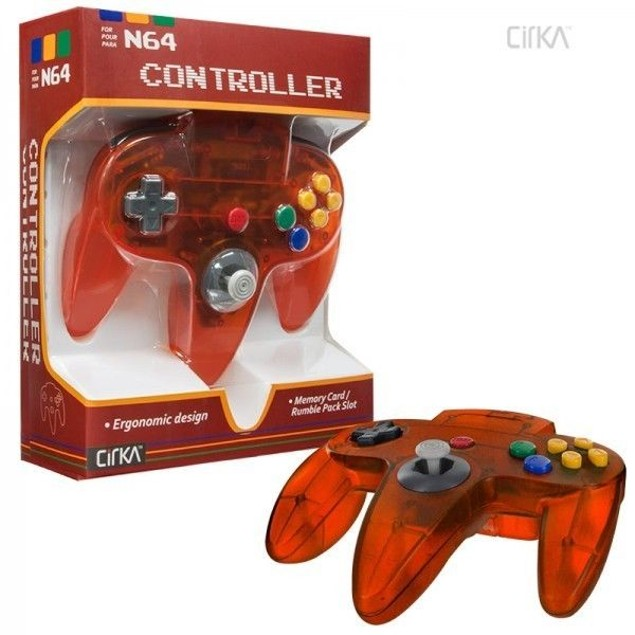 Nintendo 64 N64 Cirka Controller Clear (Fire)