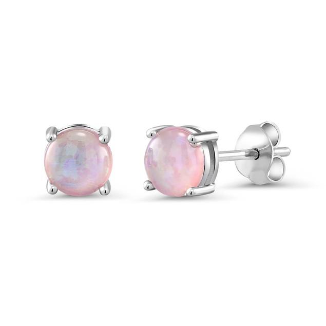 Genuine Gemstone Stud Earrings