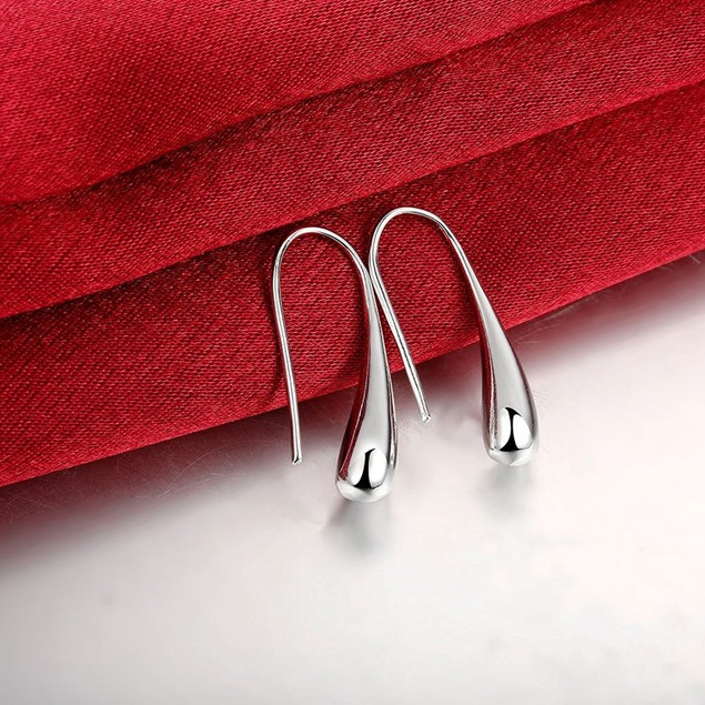 Silver French Hoop Earrings