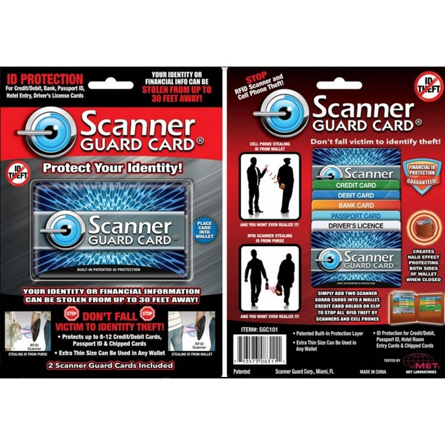 2-Pack Scanner Guard Cards for Protect Your Credit Cards