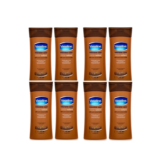 8-Pack Vaseline Essential Moisture Cocoa Radiant Lotion 200ml
