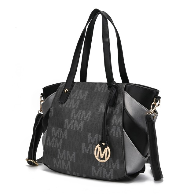 Mia K. Collection Estella Signature Satchel Bag