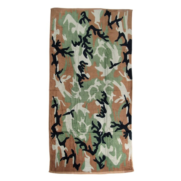 Camouflage Print Beach Towel 60 Inches X 30 Inches Mens Beach Towels