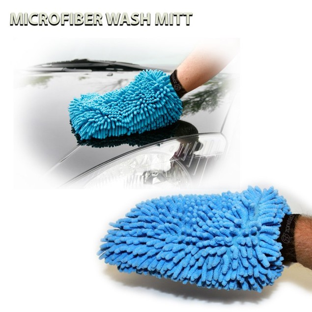 2-Pack Assorted Zone Tech Micro Fiber Car House Wash Cleaning Glove Mitt