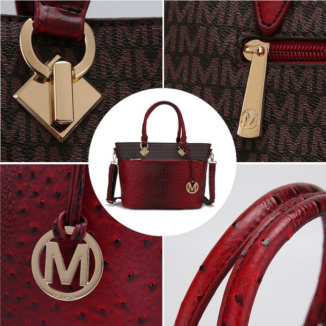 MKF Collection Grace Signature and Croc Embossed Tote Bag by Mia K.