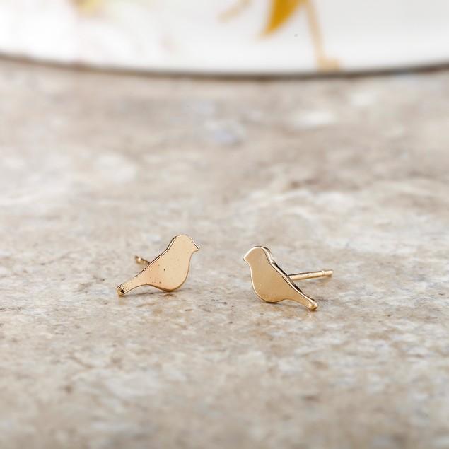 Bird Stud Earrings - 2 Colors
