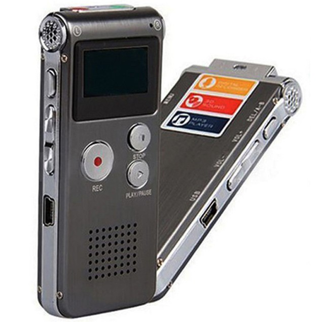 8GB Audio Voice Recorder Rechargeable Dictaphone Telephone MP3 Player