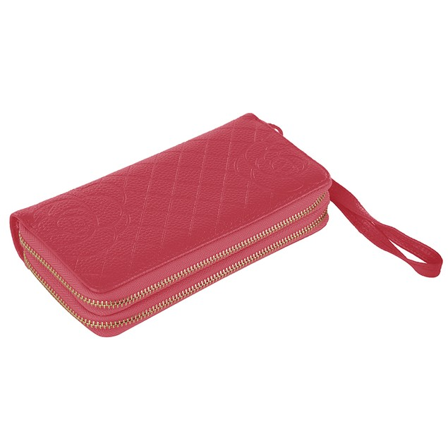 MKF Collection Honey Genuine Leather Wristlet Wallet by Mia K.