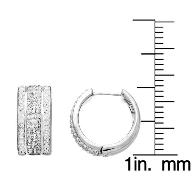 20mm Crystal Huggie Hoop Earrings
