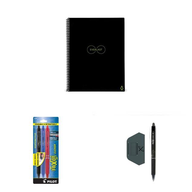 Rocketbook Smart Notebook (Letter or Executive Size) + 4 Pens & Pen Station