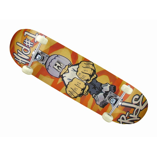 Canadian Maple Born To Ride Graphics Black Grip Standard Skateboards