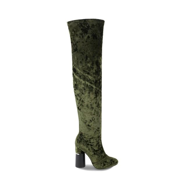 Olivia Miller 'Hempstead' Velvet Circle Heel Over the Knee Boots