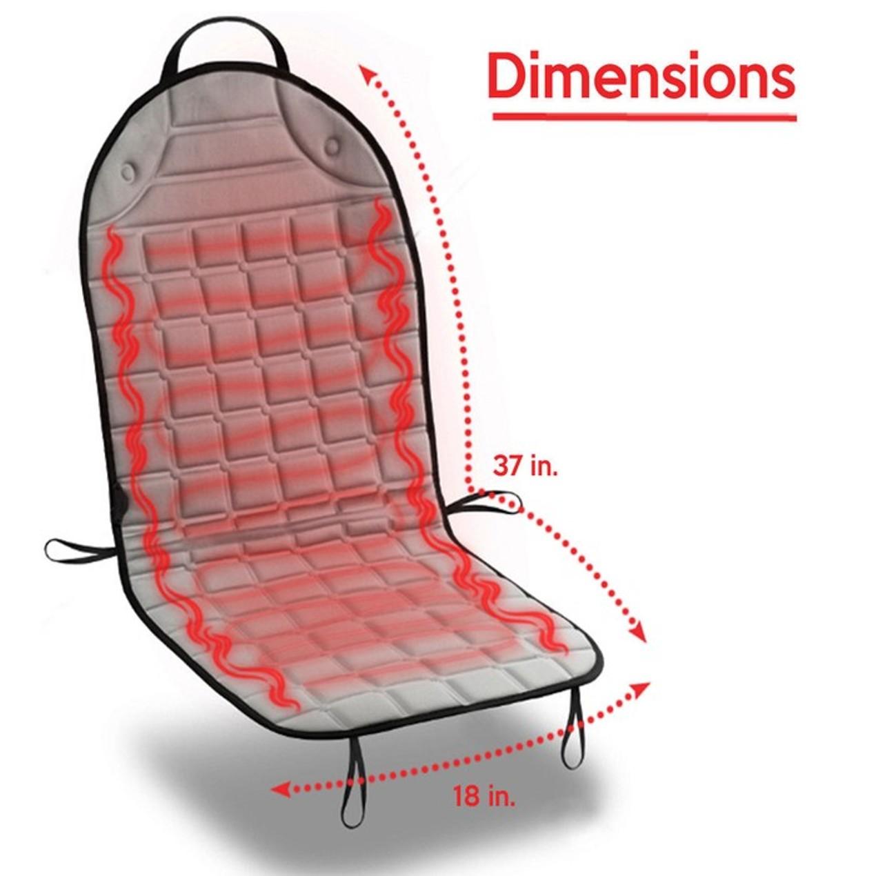 Zone Tech Heated Car Seat Heater Cushion W 45 Minute Auto Shutoff Timer