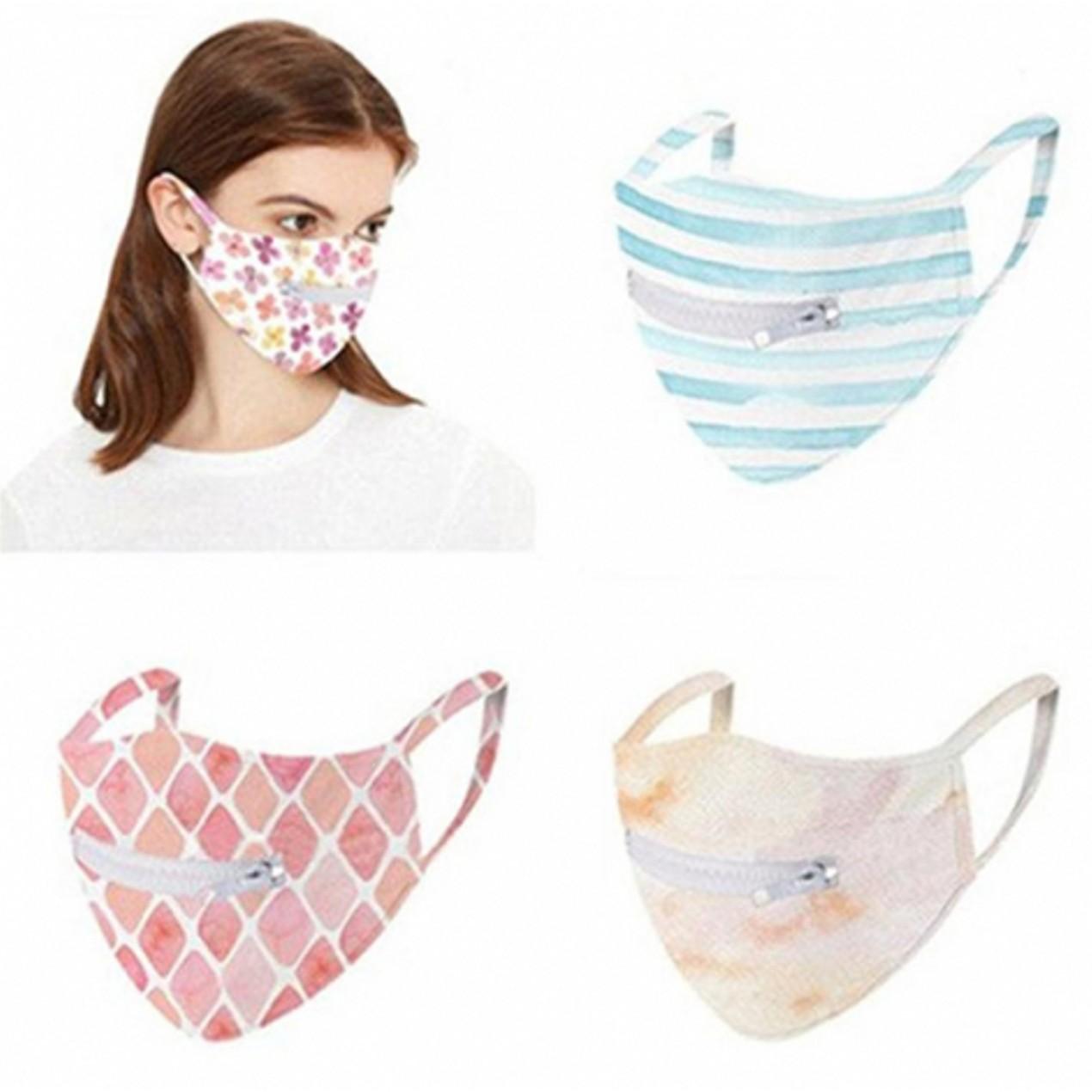 5-Pack Washable Zipper Mask