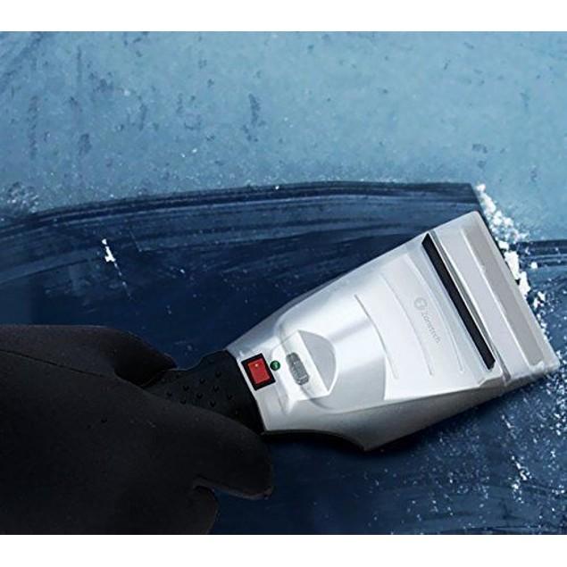 Zone Tech 2x 12 Volt Heated Electric Car Ice Snow Scrapers non Scratch