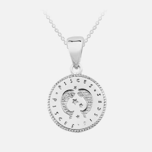 Inspired Sterling Silver Zodiac Pendant - Pisces
