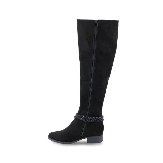 Olivia Miller 'Babylon' Multi Braided Strap Over the Knee Boots