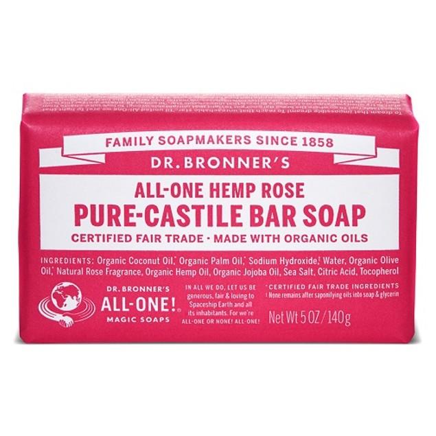 Dr. Bronner's All-One Hemp Rose Pure-Castile Soap Bar