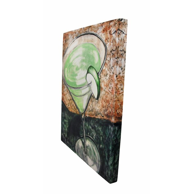Green Apple Martini Cocktail Canvas Wall Art Paintings