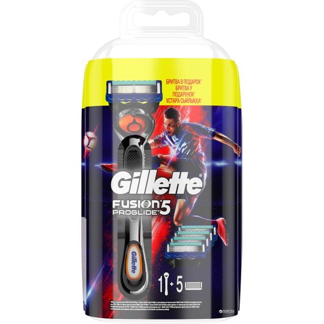 Gillette Fusion Proglide Flexball 1 Razor + 5 Refill Blades Set