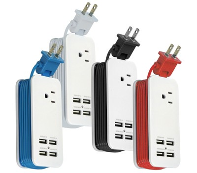 Travel Power Strip with 4 USB Ports and 4-Foot Cord Was: $24.95 Now: $8.99.