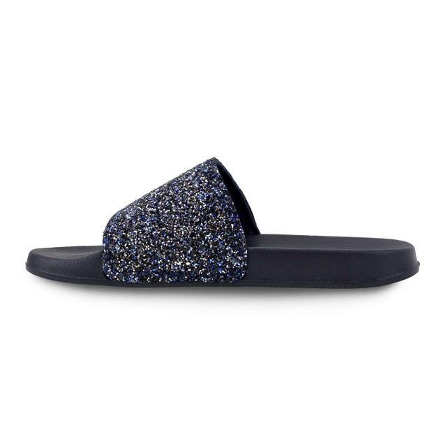Olivia Miller 'Jacksonville' Multi Color Chunky Glitter Pool Slide Sandals