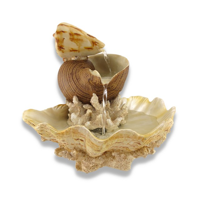 Sculpted Seashells And Coral Indoor Table Top Tabletop Fountains
