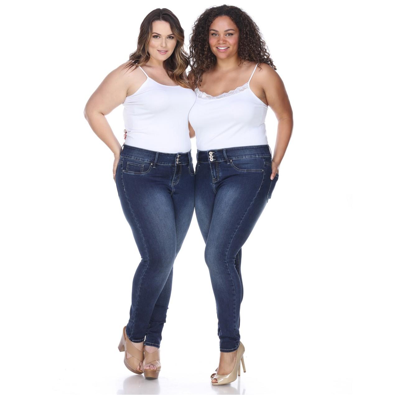 2d5c1c7dd0 White Mark Women s Plus Size Super Stretch Denim Jeans - Tanga