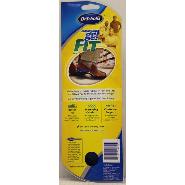 3-Pack Dr. Scholl's Massaging Gel Fit 3/4 Length Insoles for Men