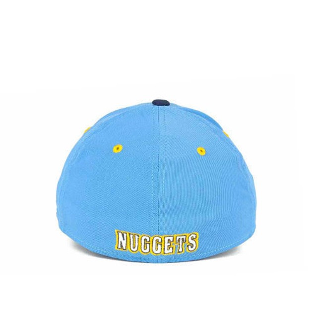 """Denver Nuggets NBA Adidas """"Courtside"""" Stretch Fitted Hat"""