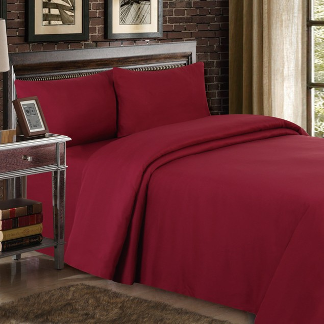 4-Piece Set: Wrinkle Free Ultra-Luxe Double-Brushed 1800 Series Sheets