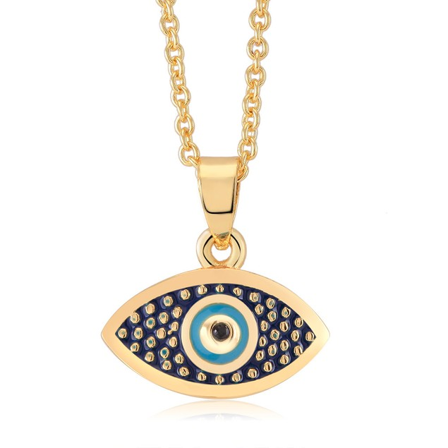Enamel Evil Eye Necklace